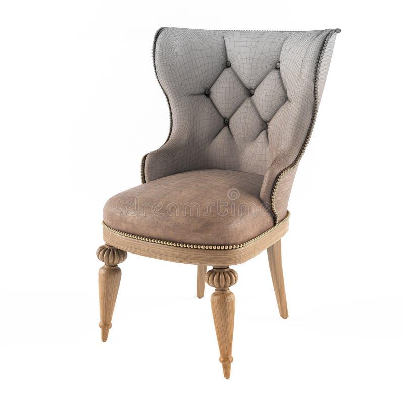 Maglia della sedia di cuoio moderna immagine stock