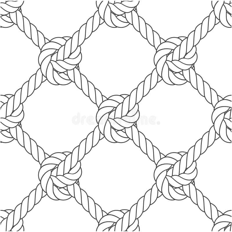 Maglia diagonale della corda - modello senza cuciture dei nodi illustrazione vettoriale