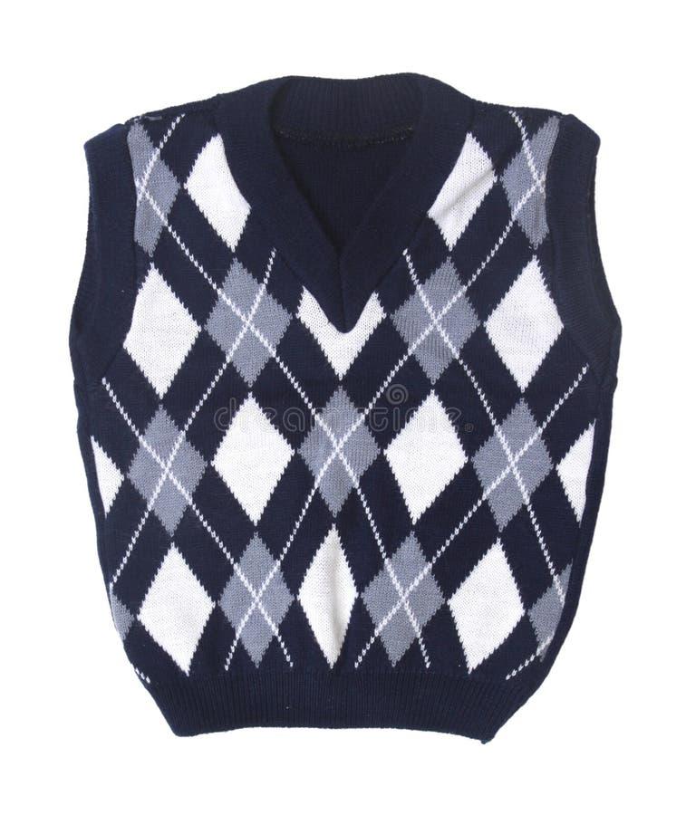 Maglia lavorata a maglia bambino del plaid fotografia stock
