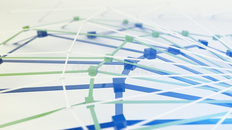 Maglia lucida poligonale 3D astratti rendono royalty illustrazione gratis