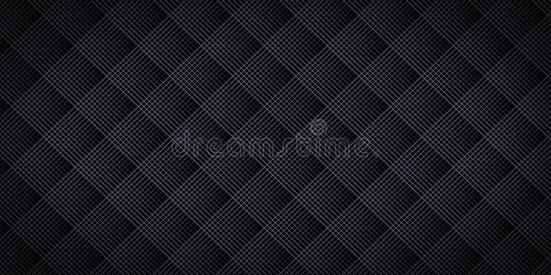Maglia nera del rombo illustrazione vettoriale