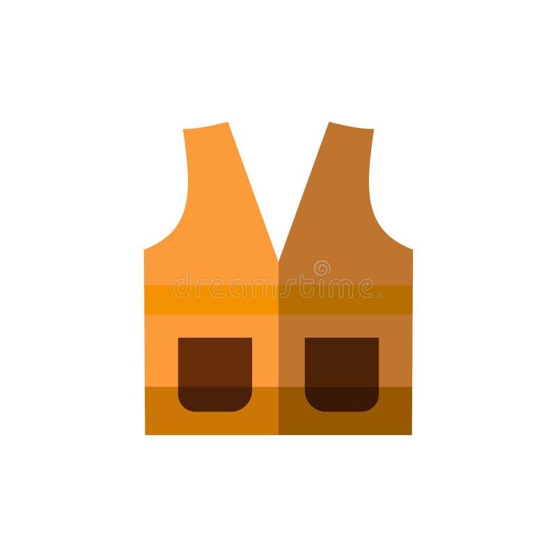 Maglia, rivestimento, lavoro, costruzione, icona piana di colore di riparazione Modello dell'insegna dell'icona di vettore illustrazione di stock