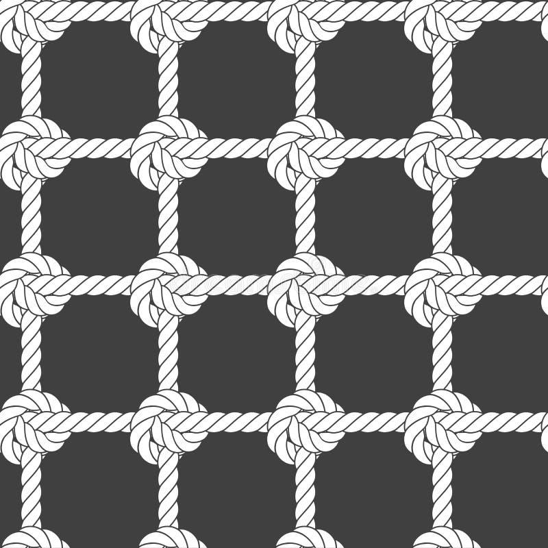 Maglia senza cuciture della corda - modello di nodi royalty illustrazione gratis