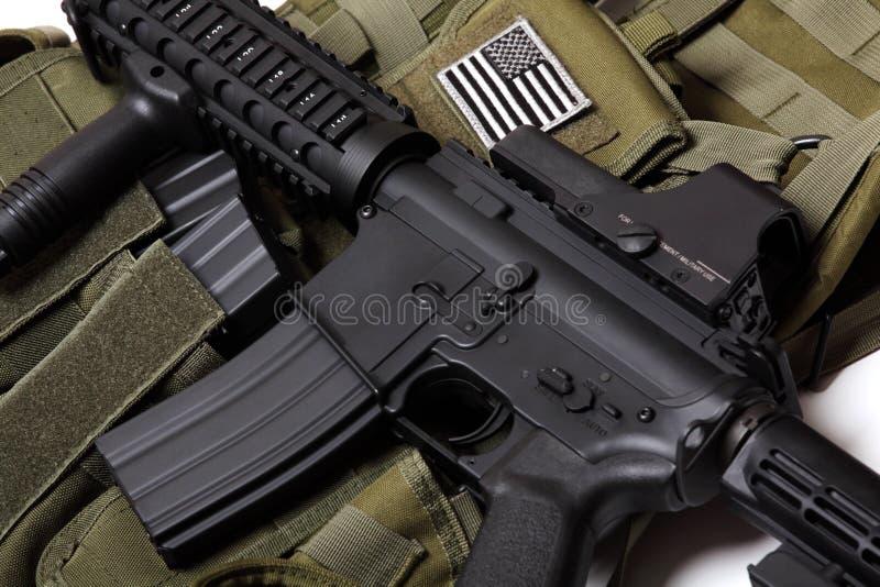 Maglia tattica e carbine degli Stati Uniti. fotografie stock libere da diritti