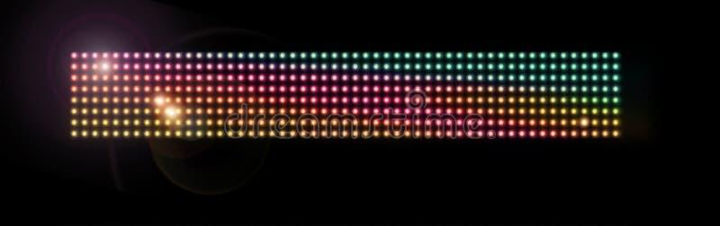 Maglia variopinta del LED fotografia stock libera da diritti