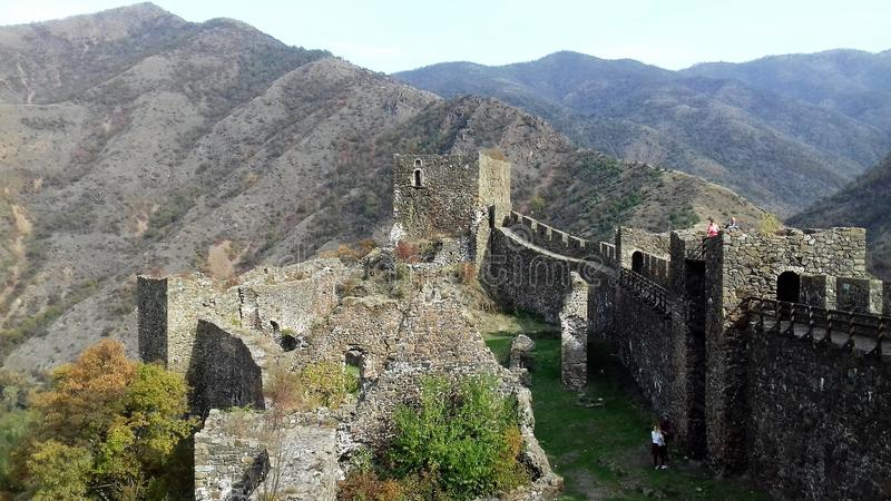MAGLIC MEDIEVAL FORTRESS stock photos