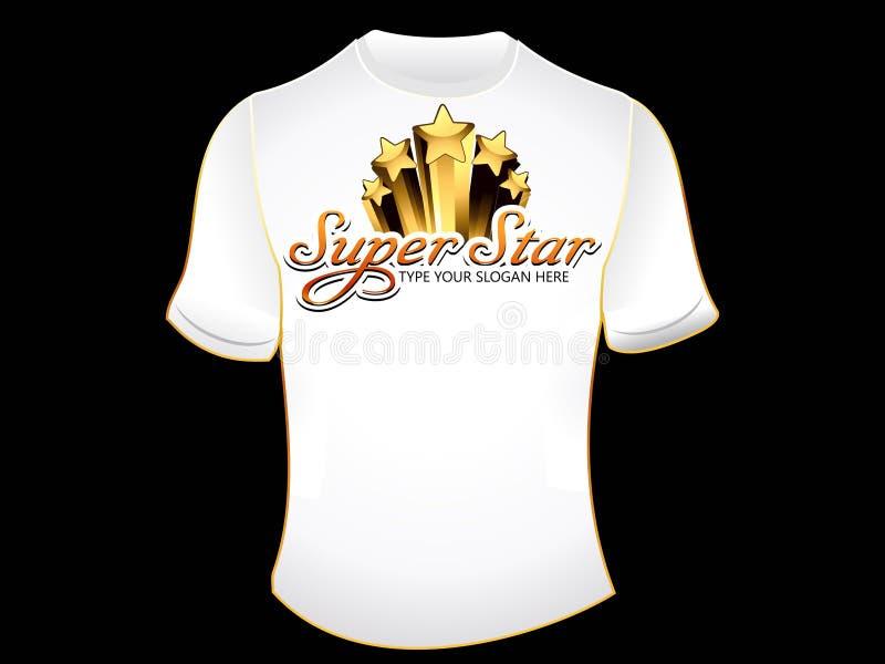 Maglietta astratta del superstar illustrazione di stock