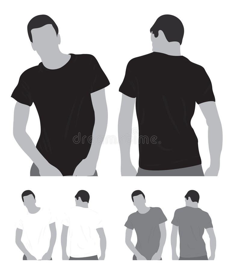 Maglietta in bianco illustrazione di stock