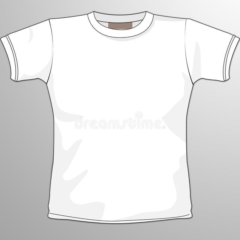 Maglietta in bianco illustrazione vettoriale