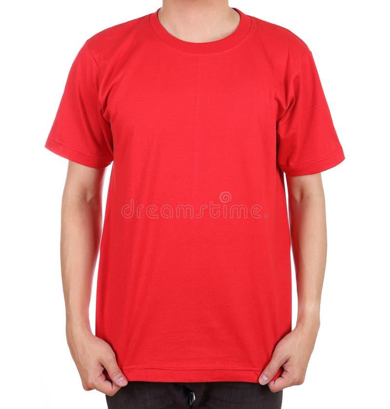 Maglietta in bianco sull'uomo immagini stock