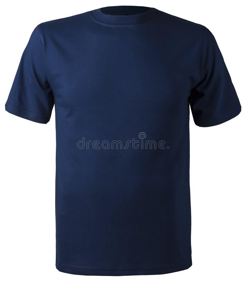 Maglietta blu scuro isolata non stampabile del cotone fotografia stock libera da diritti