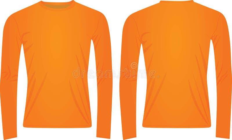Maglietta collegata lunga arancio royalty illustrazione gratis