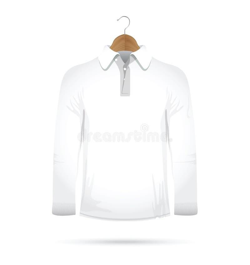 Maglietta collegata lunga su un gancio royalty illustrazione gratis