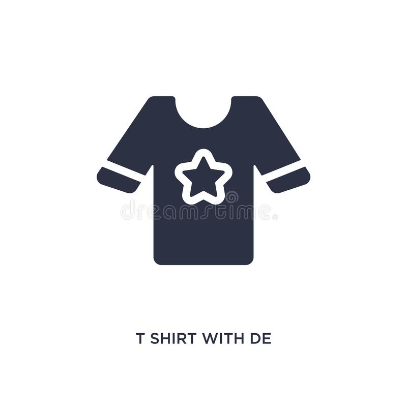 maglietta con de icon su fondo bianco Illustrazione semplice dell'elemento dal concetto dei vestiti royalty illustrazione gratis