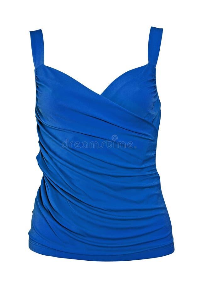 Maglietta dell'azzurro della camicetta di estate fotografia stock libera da diritti