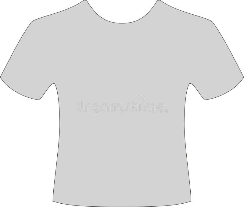Maglietta grigia illustrazione di stock