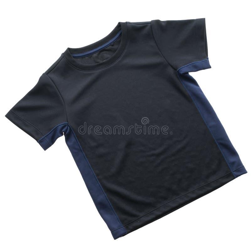 Maglietta nera per abbigliamento fotografia stock