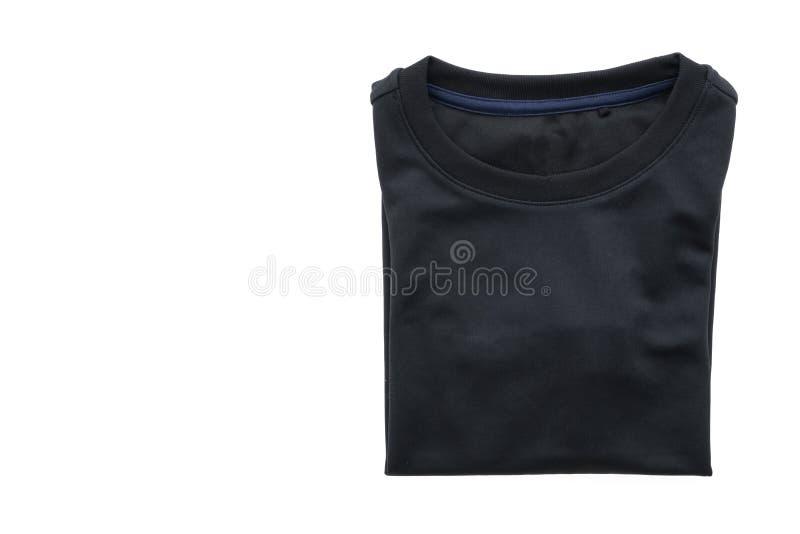 Maglietta nera per abbigliamento fotografie stock