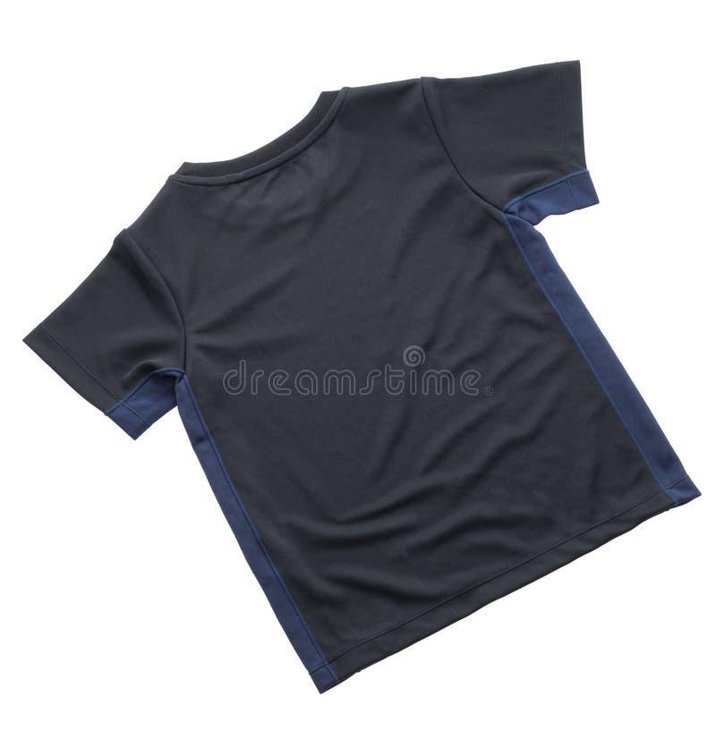 Maglietta nera per abbigliamento immagine stock