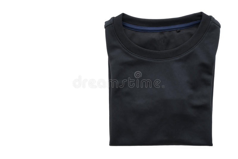 Maglietta nera per abbigliamento immagini stock
