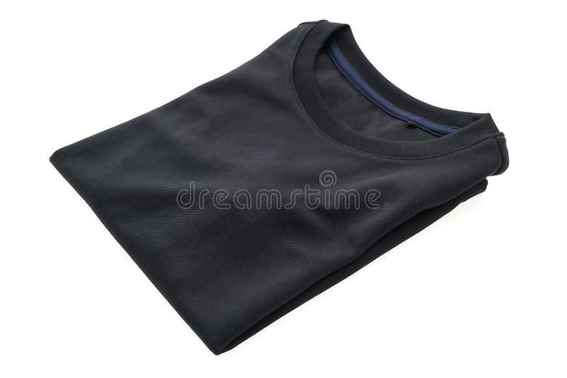 Maglietta nera per abbigliamento immagine stock libera da diritti