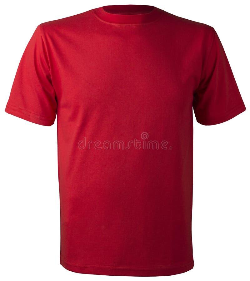 Maglietta rossa isolata non stampabile del cotone fotografie stock libere da diritti
