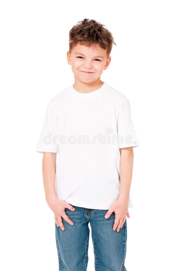 Maglietta sul ragazzo fotografie stock libere da diritti