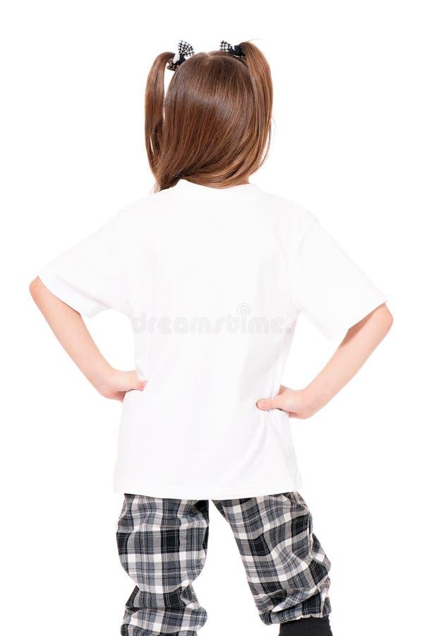 Maglietta sulla ragazza fotografie stock libere da diritti