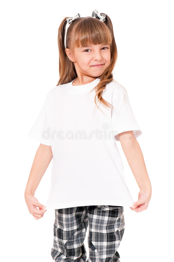 Maglietta sulla ragazza fotografia stock libera da diritti