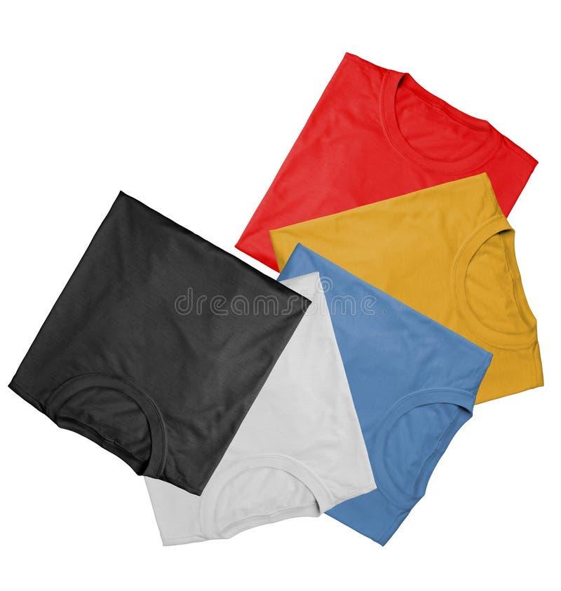 Magliette - colori fotografie stock libere da diritti