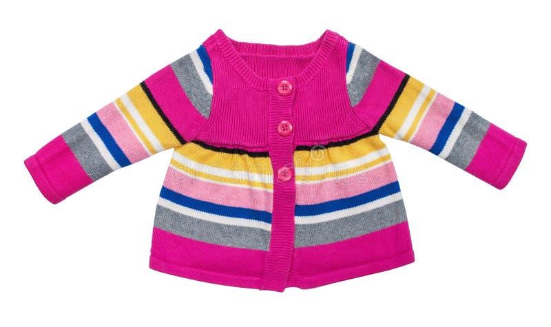 Maglione alla moda del bambino con le bande immagine stock libera da diritti