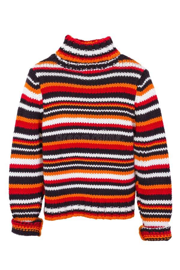 Maglione arancione del knit, ponticello immagini stock libere da diritti