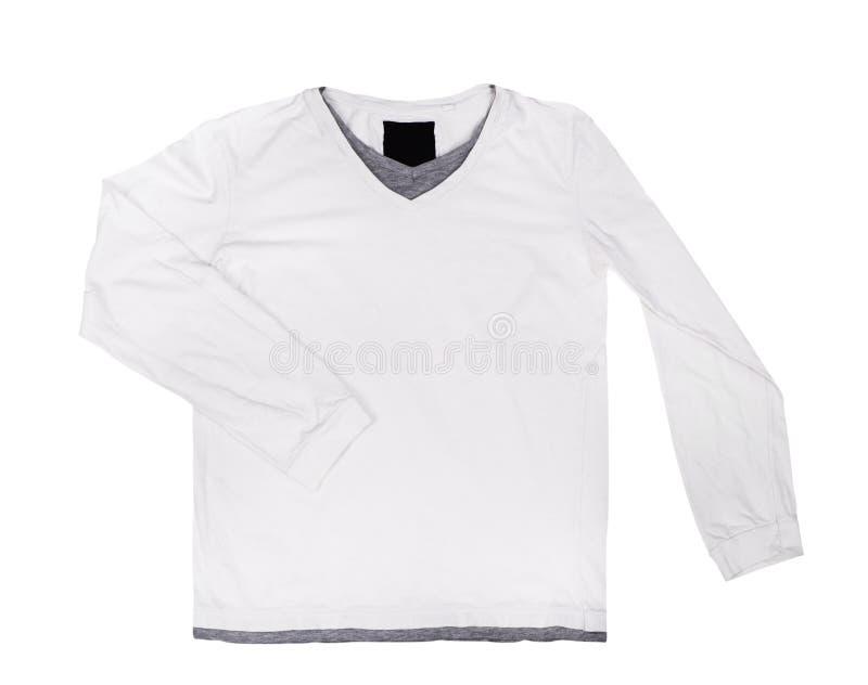 Maglione bianco in bianco isolato immagine stock libera da diritti