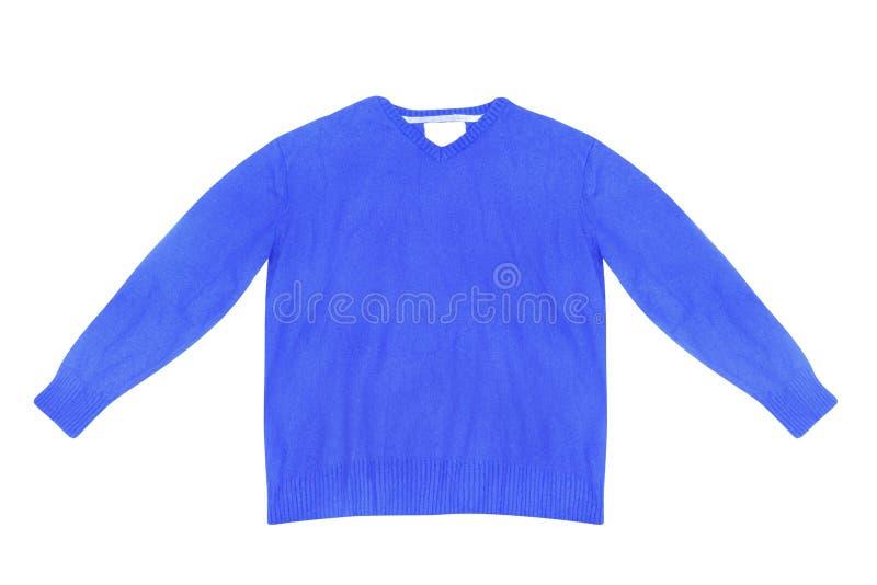Maglione blu in bianco fotografia stock