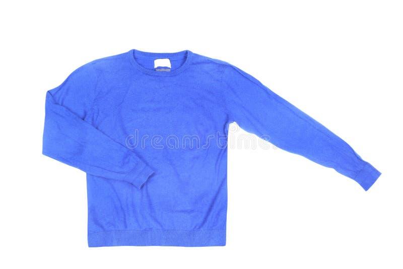Maglione blu in bianco fotografie stock libere da diritti