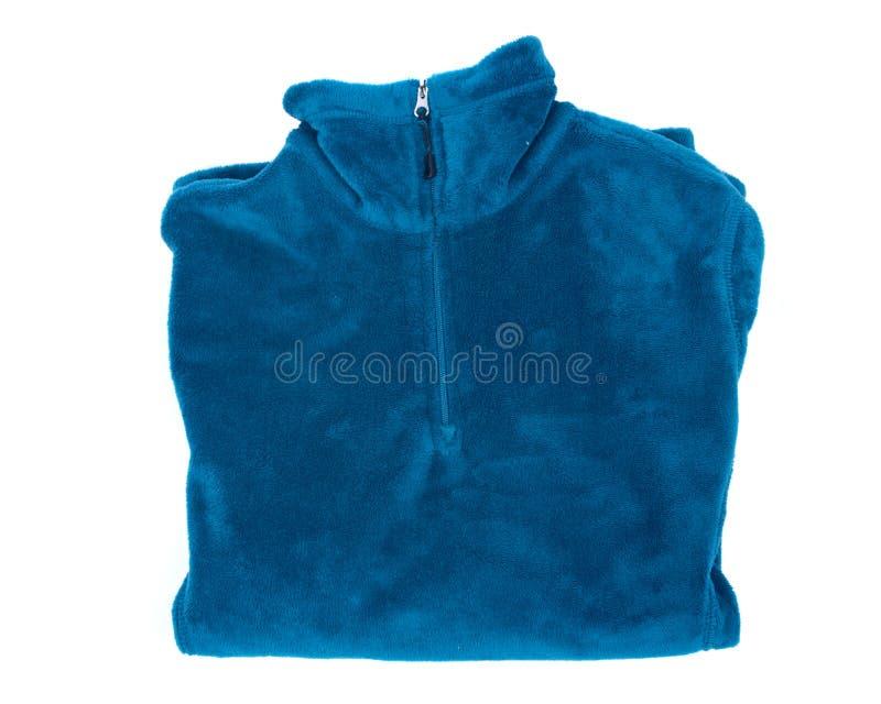 Maglione blu del poliestere fotografia stock libera da diritti