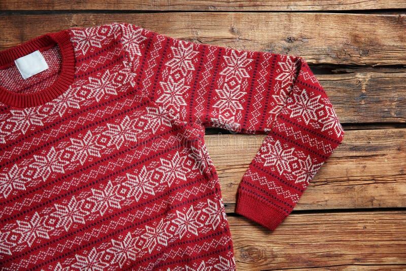 Maglione di Natale con il modello fotografia stock