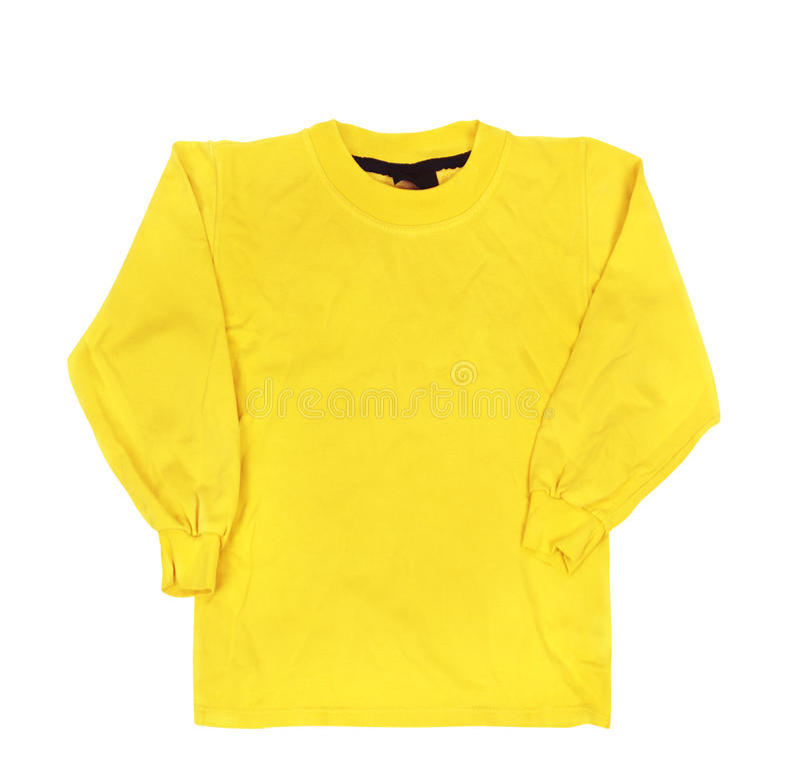 Maglione giallo in bianco fotografie stock libere da diritti