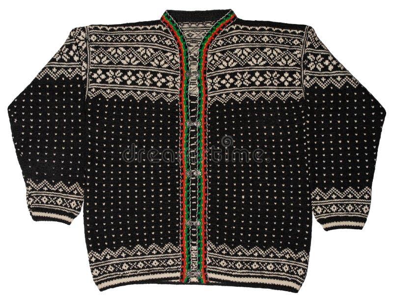 Maglione nero norvegese immagine stock libera da diritti