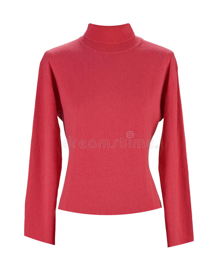 Maglione rosso fotografia stock libera da diritti