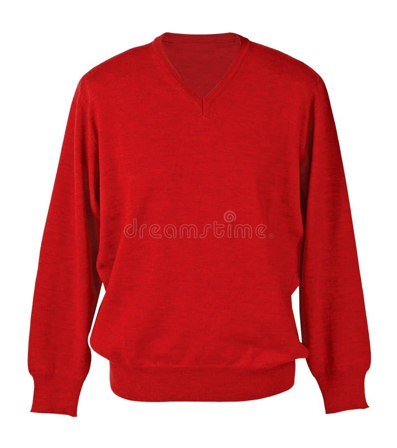 Maglione rosso fotografie stock libere da diritti