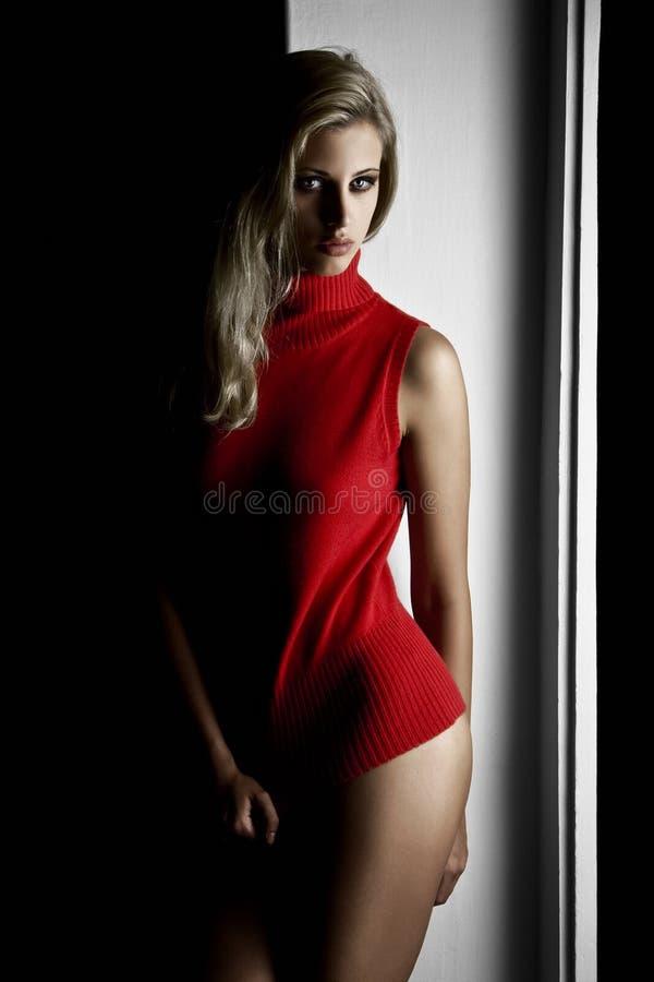 maglione rosso immagini stock libere da diritti