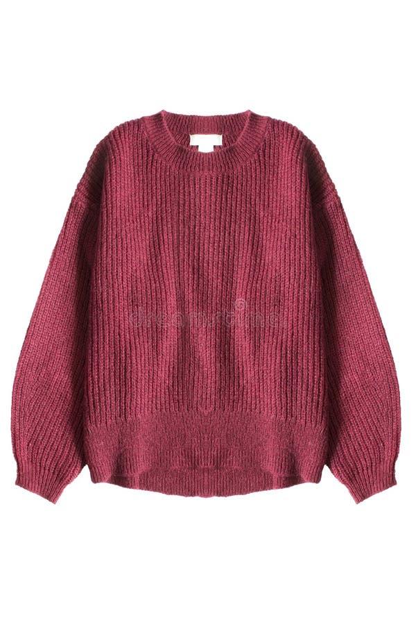 Maglione rosso isolato immagine stock libera da diritti