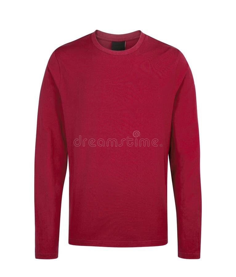 Maglione rosso isolato su bianco fotografia stock libera da diritti