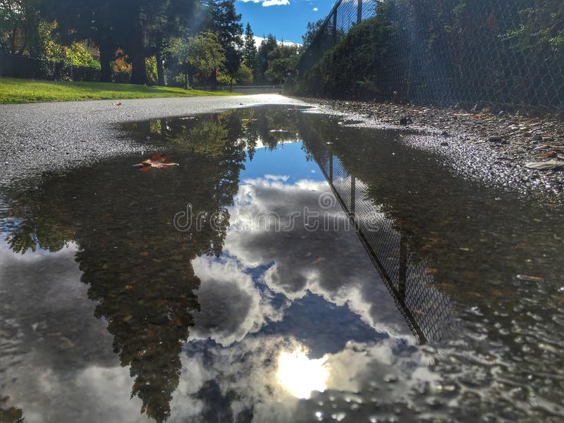 Magma après une tempête image stock
