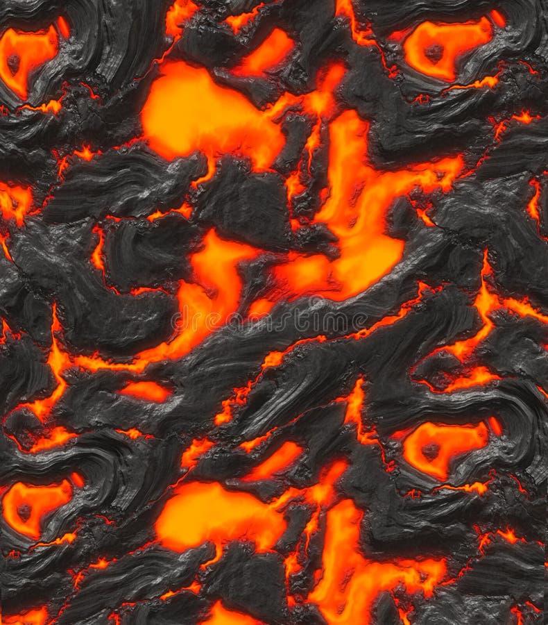 Magma ou lava derretida ilustração do vetor