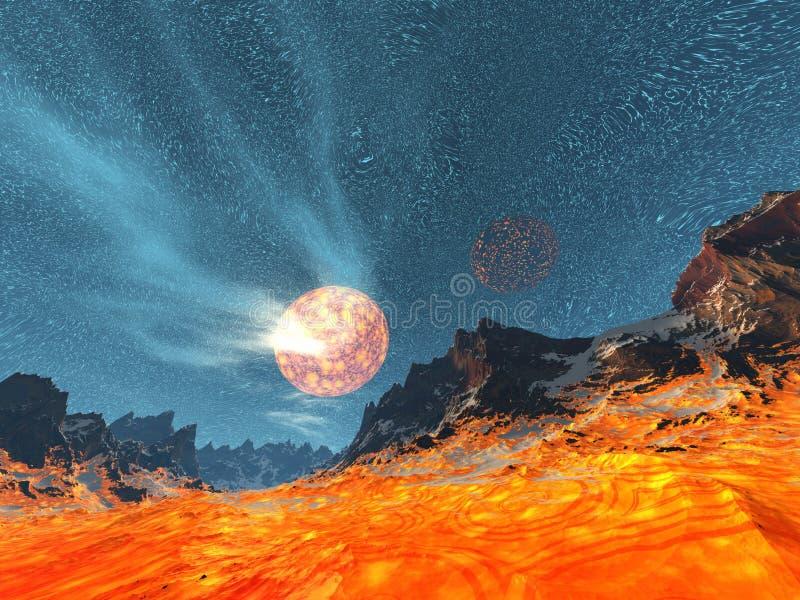 magmaplanet royaltyfri illustrationer