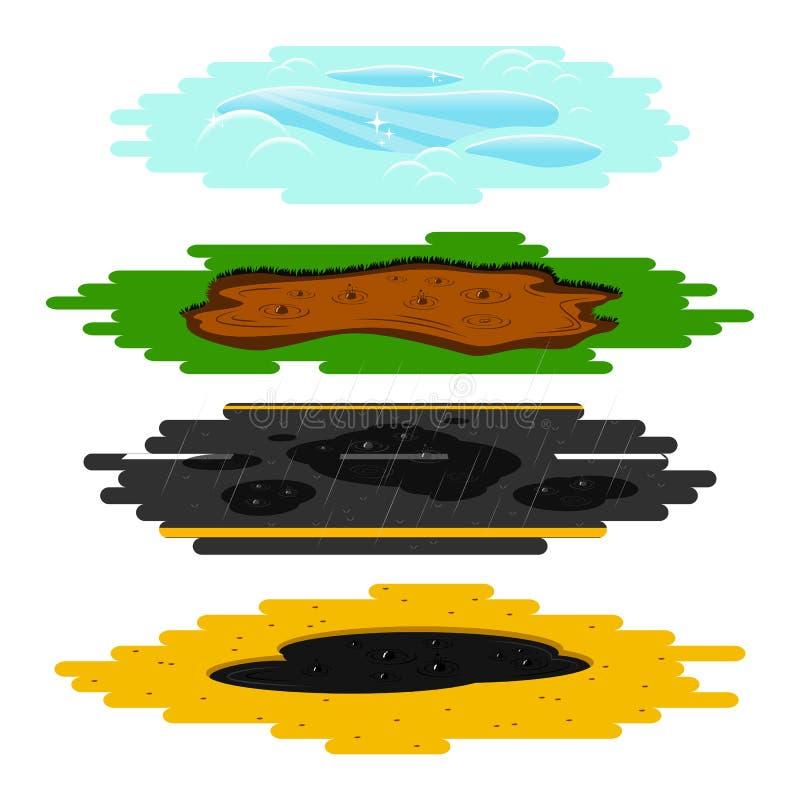 Magmas de différents types réglés illustration libre de droits