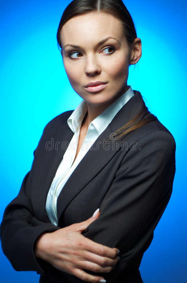Magnésium sexy de femme d'affaires photos libres de droits