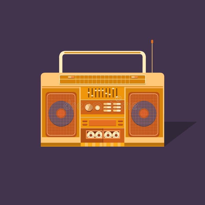 Magnétophone à cassettes d'illustration illustration libre de droits